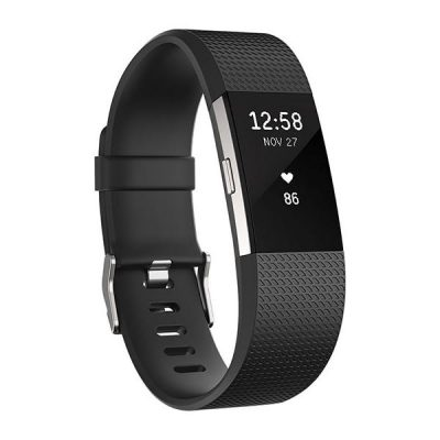 Fitbit Charge 2 HR Wireless Activity Wristband Black Large-0