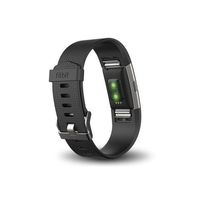 Fitbit Charge 2 HR Wireless Activity Wristband Black Large-135