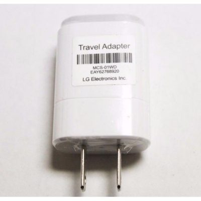 LG 1.2 Amp USB Power Adapter White Head Only-0