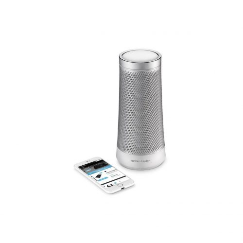 Harman Kardon INVOKE Voice Activated Wireless Speaker w Cortana Silver (Refurb)